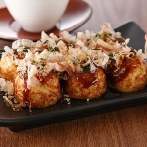 Small Octopus Dumplings (Tako-yaki)